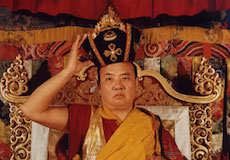 The 16th Karmapa with his black crown