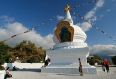 A Stupa, symbol of the enlightenment